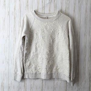 j. crew • White Tulip Embroidered Soft Sweatshirt